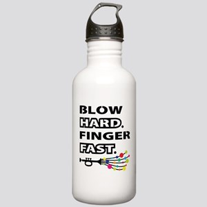Blow hard, finger fast Water Bottle